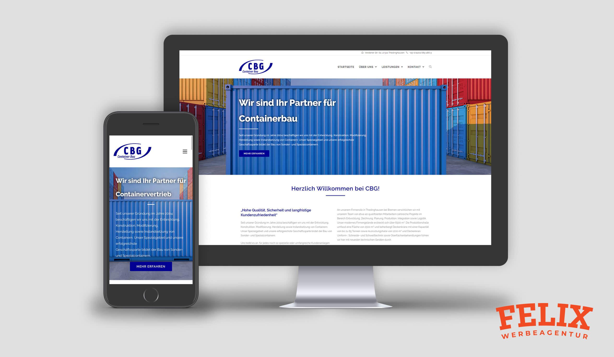 Mockup_CBG Container Bau GmbH_Webseite