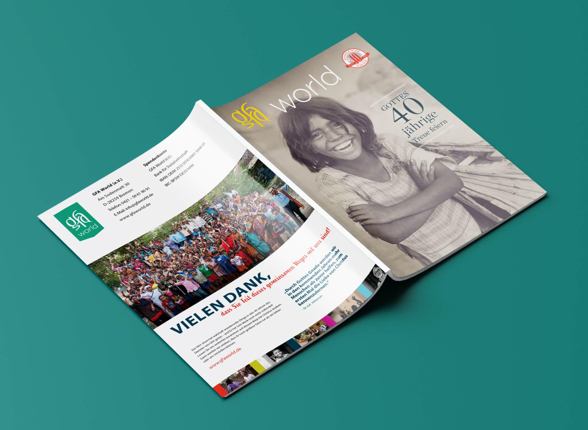 Grafische Gestaltung von Magazin