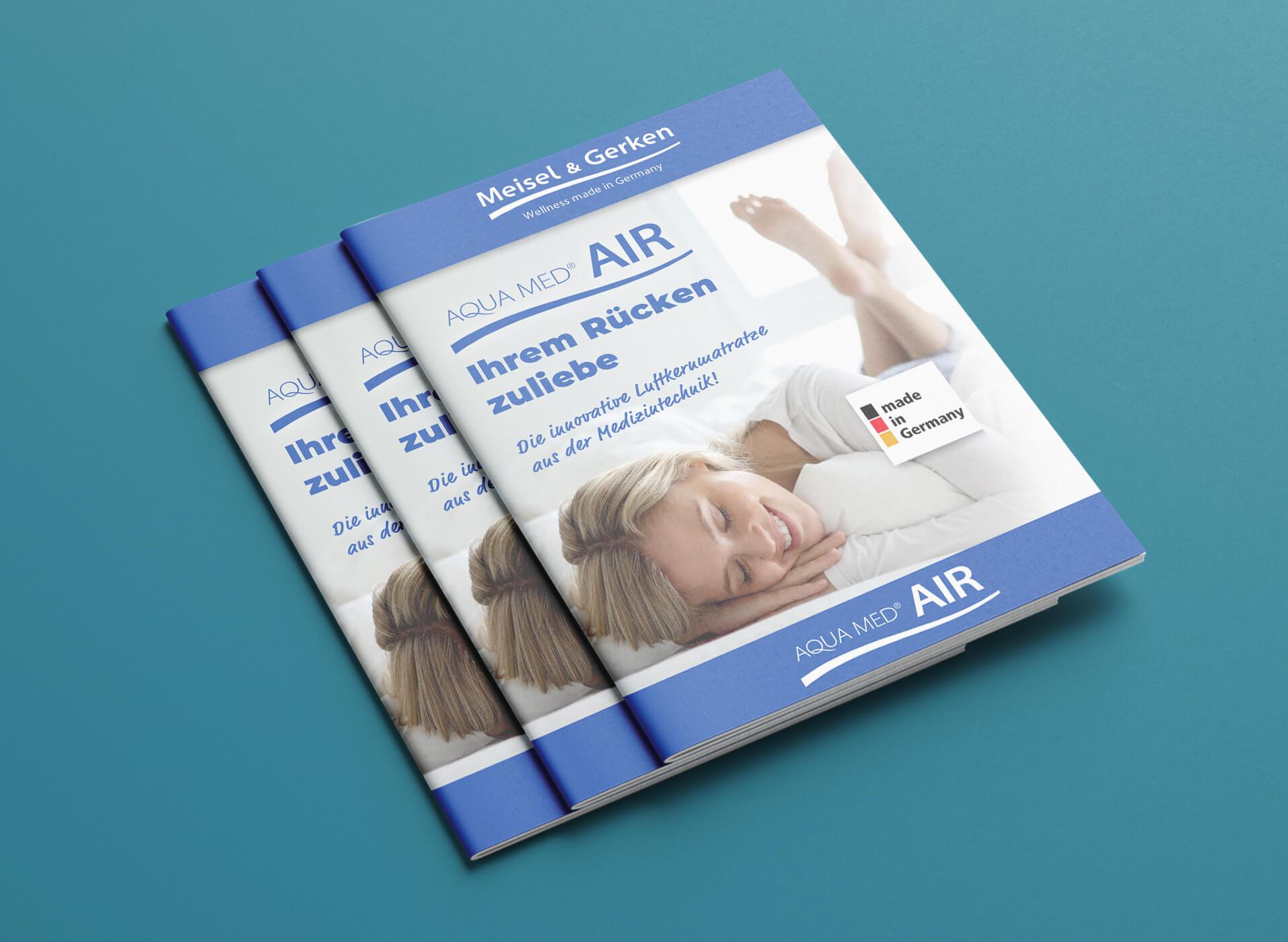 Grafische Gestaltung von Broschüre